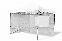 Garthen 6378 Zahradní párty stan nůžkový PROFI 3x3 m bílý + 4 boční stěny