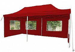 Garthen Zahradní párty stan nůžkový červený, 3 x 6 m