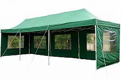 Garthen Zahradní skládací párty stan PROFI - zelený 3 x 9 m D00404