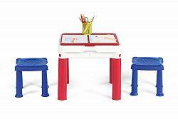 KETER CONSTRUC TABLE kreativní stolek a Lego modrá/červená/bílá 17201603