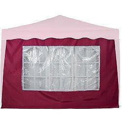 MAX 6369 Boční stěna s trojdílným oknem - 3x3m - vínová
