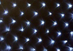 Nexos 1031 Světelný závěs s LED diodami - 3 x 3 m studená bílá 128 LED
