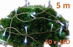 Nexos 2141 Vánoční LED osvětlení 5 m - studeně bílé, 50 diod