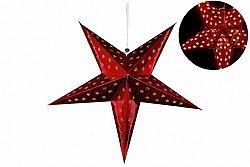 Nexos 32548 Vánoční dekorace - hvězda s časovačem 60 cm - 10 LED, červená