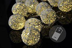 Nexos 33208 Vánoční LED osvětlení - ratanové koule - 20 LED