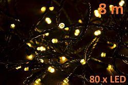 Nexos 6001 Vánoční LED osvětlení 8m - teple bílé, 80 diod