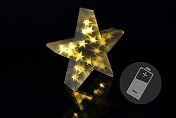 Nexos Trading GmbH & Co. KG 33205 Vánoční hvězda s 3D efektem - 35 cm, 20 LED, teplá bílá