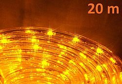 OEM D00575 LED světelný kabel 20 m - žlutá, 480 diod