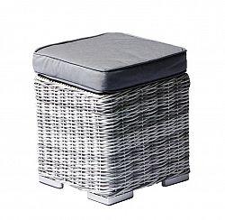 Polyratanový taburet SAN DIEGO s poduškou