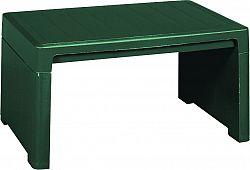 RojaPlast Plastový stůl LAGO LOUNGE SIDE v tmavě zelené