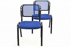 Sada stohovatelné kongresové židle OEM D38256 - 2 kusy - modrá