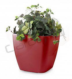Samozavlažovací květináč G21 Cube maxi červený 45cm