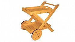 Skládací servírovací vozík - s povrchovou úpravou