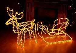 Svítící vánoční sob - světelná dekorace 140cm - Nexos Trading GmbH & Co. KG D01105