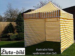 Tradgard Zahradní párty stan PROFI STEEL 3 x 6 - žluto-bílá