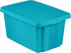 Úložný box s víkem  45L - modrý CURVER