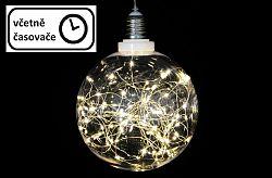 Vánoční dekorace - žárovka - 40 LED teple bílá