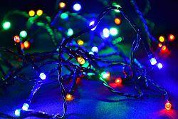 Vánoční LED osvětlení 10m - barevné, 100 diod D05954