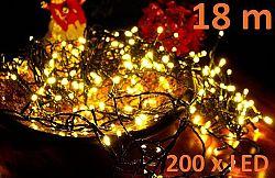 Vánoční LED osvětlení 18 m - teple bílé, 200 LED D00801
