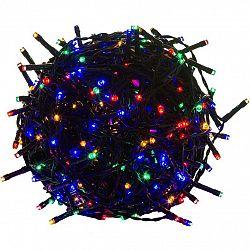 Vánoční LED osvětlení 40 m - barevné 400 LED - zelený kabel