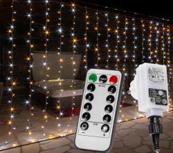 VOLTRONIC 68205 Vánoční světelný závěs - 6x3 m, 600 LED, teple/studeně bílý