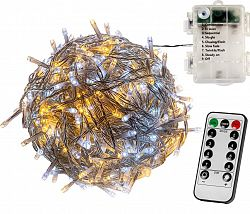 VOLTRONIC® 67412 Vánoční řetěz 20 m, 200 LED, teple/studeně bílý, na baterie