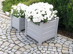 Wood 7051 Set venkovních čtvercových květináčů