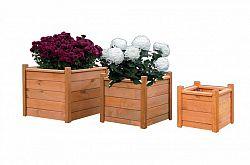 WOOD Dřevěný dekorativní květináč 30 x 30 cm