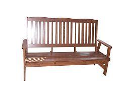 WOOD Zahradní dřevěná lavice LUISA třímístná