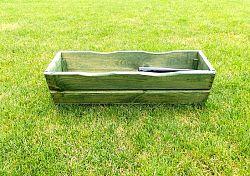 WOOD Zahradní květináč truhlík 64 cm zelený