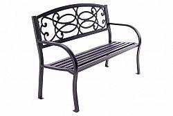 Zahradní 3-místná hliníková lavice - 128 x 50 x 82 cm