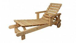 Zahradní dřevěné lehátko - bez povrchové úpravy