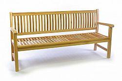 Zahradní lavice masiv DIVERO 3-místná 180 cm D35521