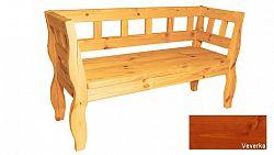 Zahradní RETRO lavice s povrchovou úpravou - 157 cm - VEVERKA