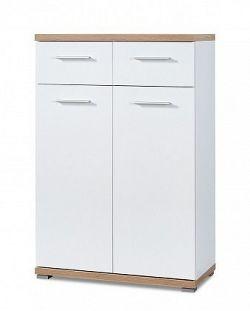GW-Top - Botník, 2x dveře (bílá/dub sonoma)