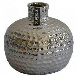 Keramická váza VK55 stříbrná (13,5 cm)
