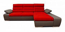 Rohová sedačka rozkládací Korfu pravý roh ÚP hnědá, červená