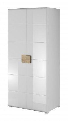 Toledo - Obývací skříň, 2 dveře (bílá, dub san remo)