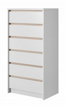 Xelo - Komoda 62,3x121,3x40,5 cm bílá
