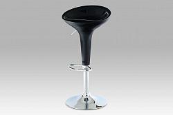 Barová židle černá plast AUB-9002 BK