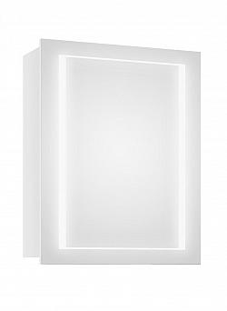 Bílá koupelnová skříňka se zrcadlem a LED osvětlením F1279