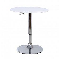 Bílý barový stůl s nastavitelnou výškou TK041