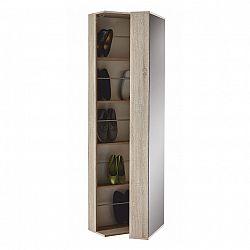 Botníková skříň v dekoru dub sonoma se zrcadlem BALERINO