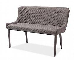 Čalouněná lavice v šedé barvě KN349