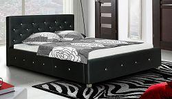 Čalouněná manželská postel s vysokým čelem s možností výběru potahu typ IV 180 KN241