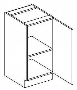D40P dolní skříňka jednodvéřová MERLIN