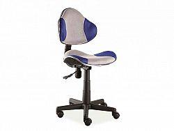 Dětská kancelářská židle kombinace šedá modrá  OF056