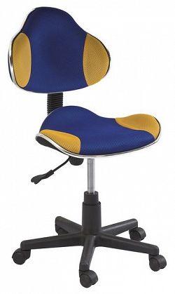 Dětská kancelářská židle - modrá/žlutá KN045