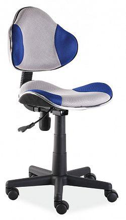 Dětská kancelářská židle - šedá/modrá KN045