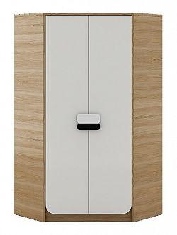 Dětská šatní skříň v dekoru dub nova a bílé barvy typ G01 KN083